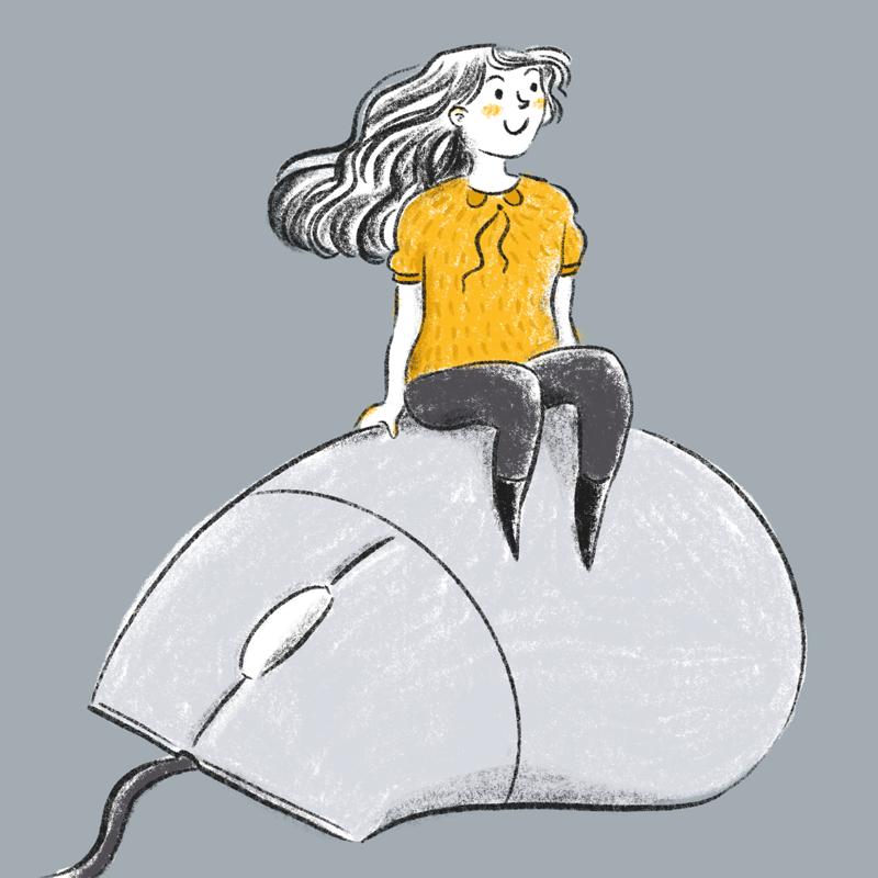 Illustration Online Schreibkurse Barbara Pachl-Eberhart © Sonja Stangl