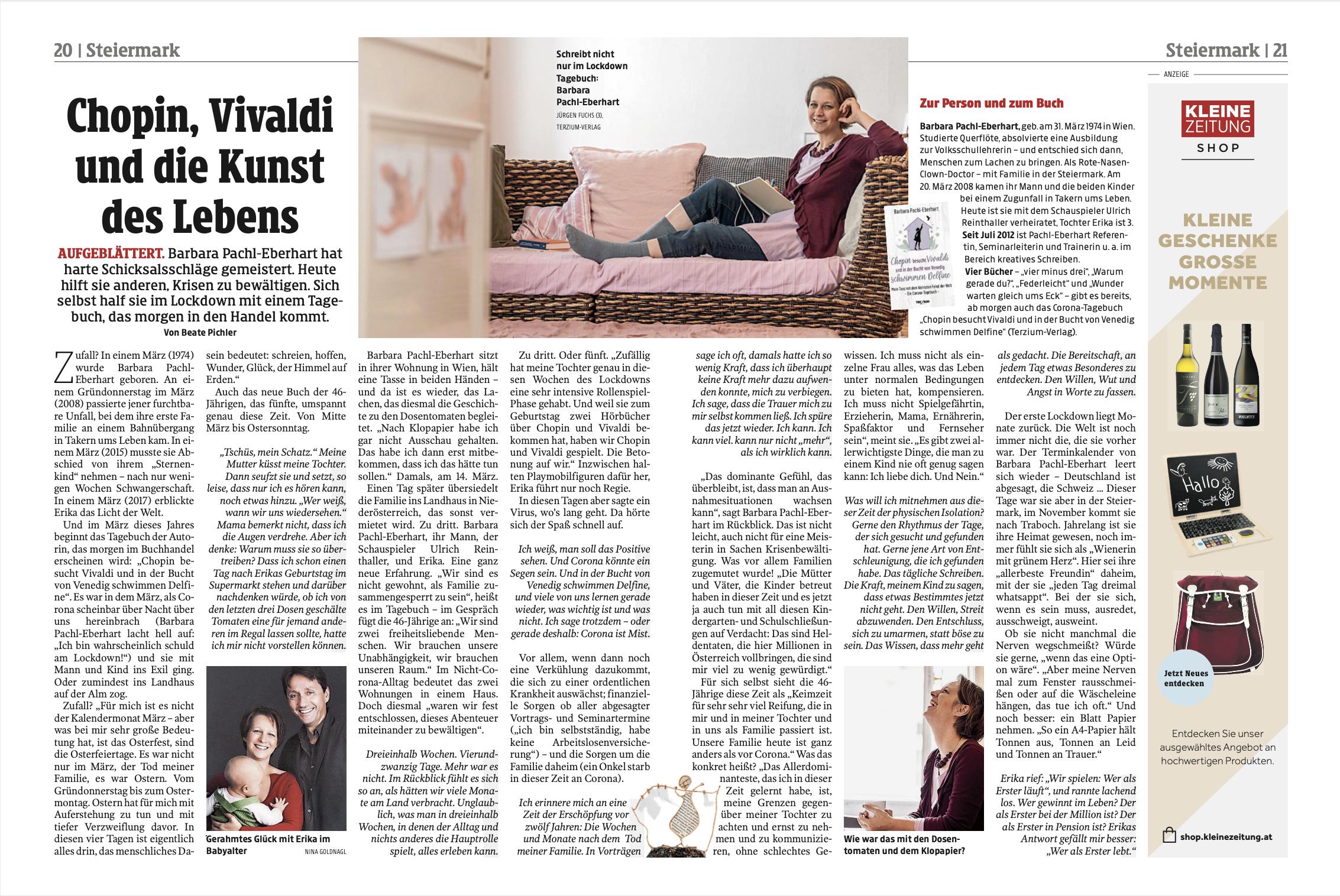 Presseartikel Barbara Pachl-Eberhart Kleine Zeitung